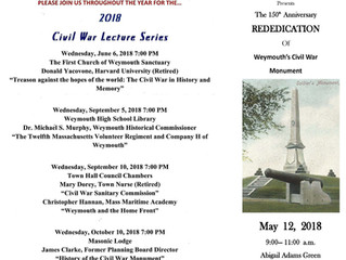Rededication of Weymouth Civil War Monument May 12, 2018
