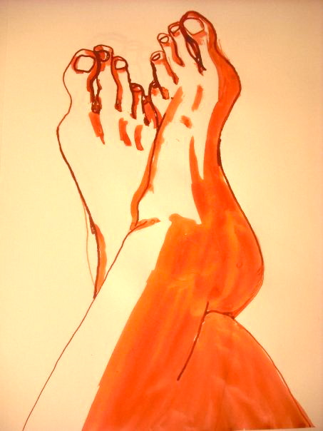 Feet (self-portrait)