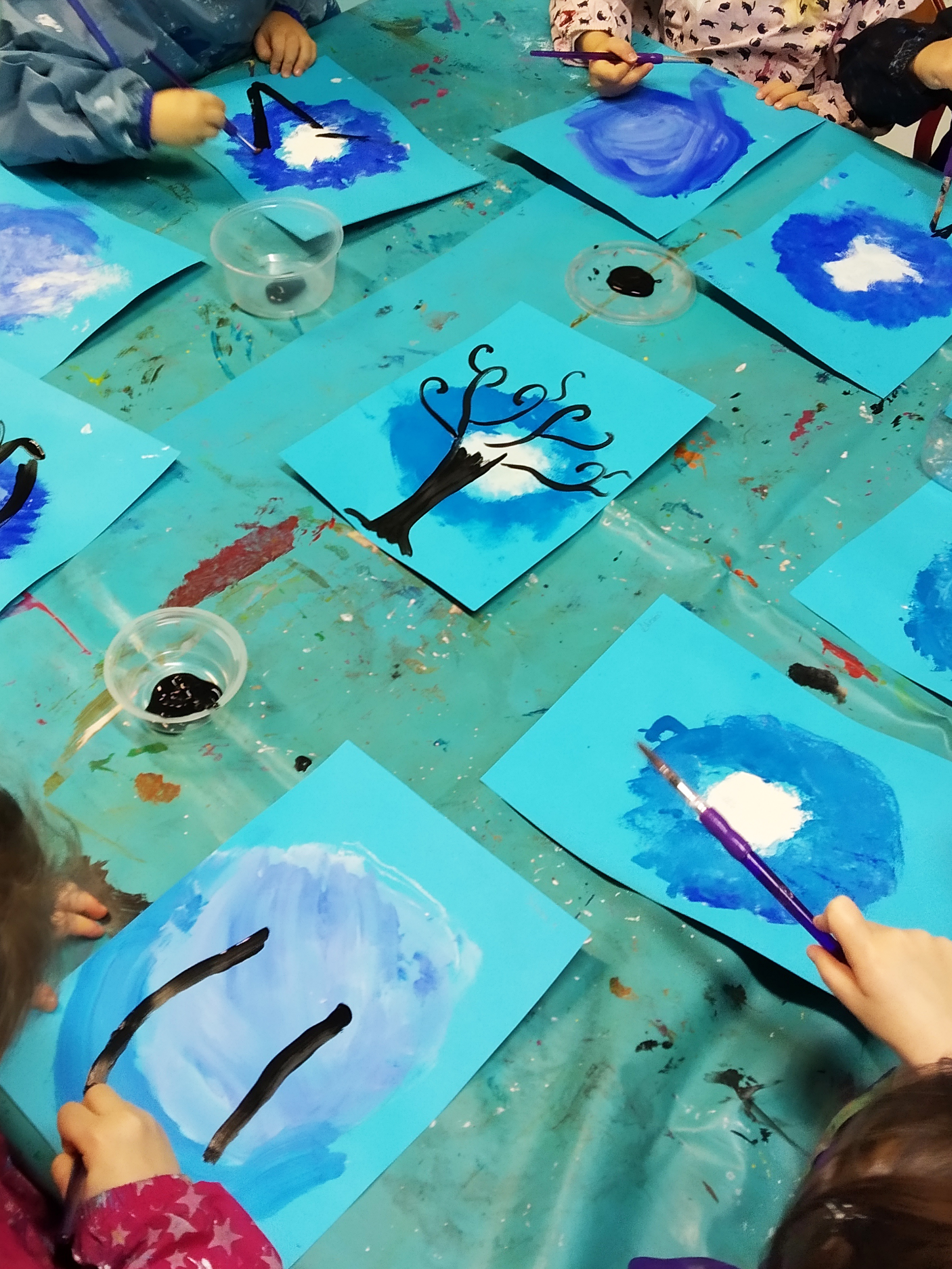 peinture arbre