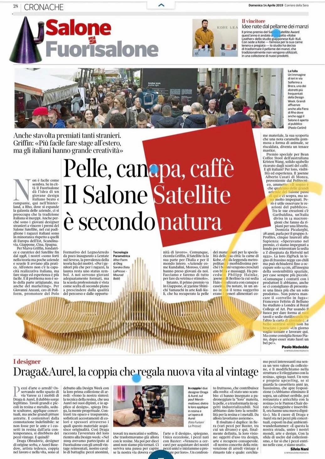 Corriere della sera Aprile 2019