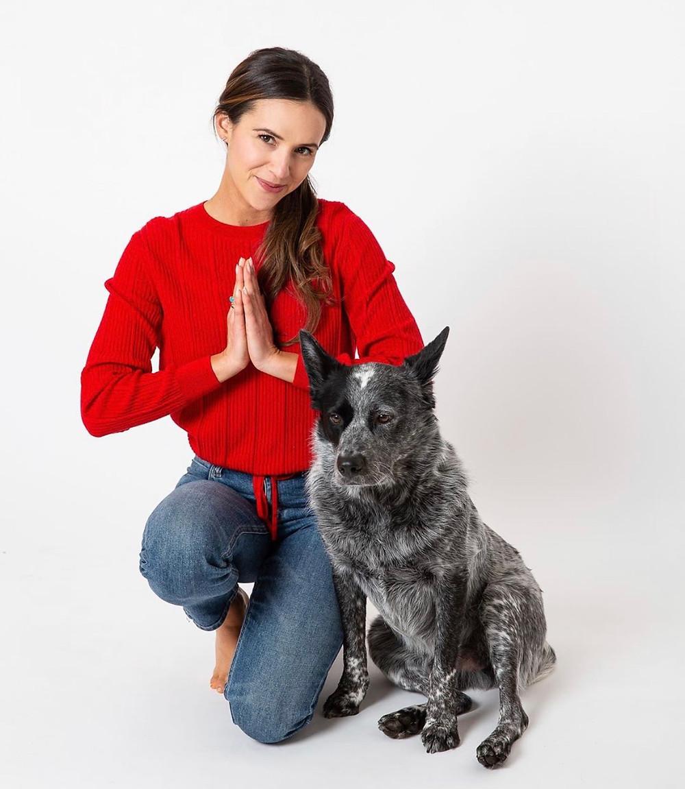 Adriene and her dog, Benji