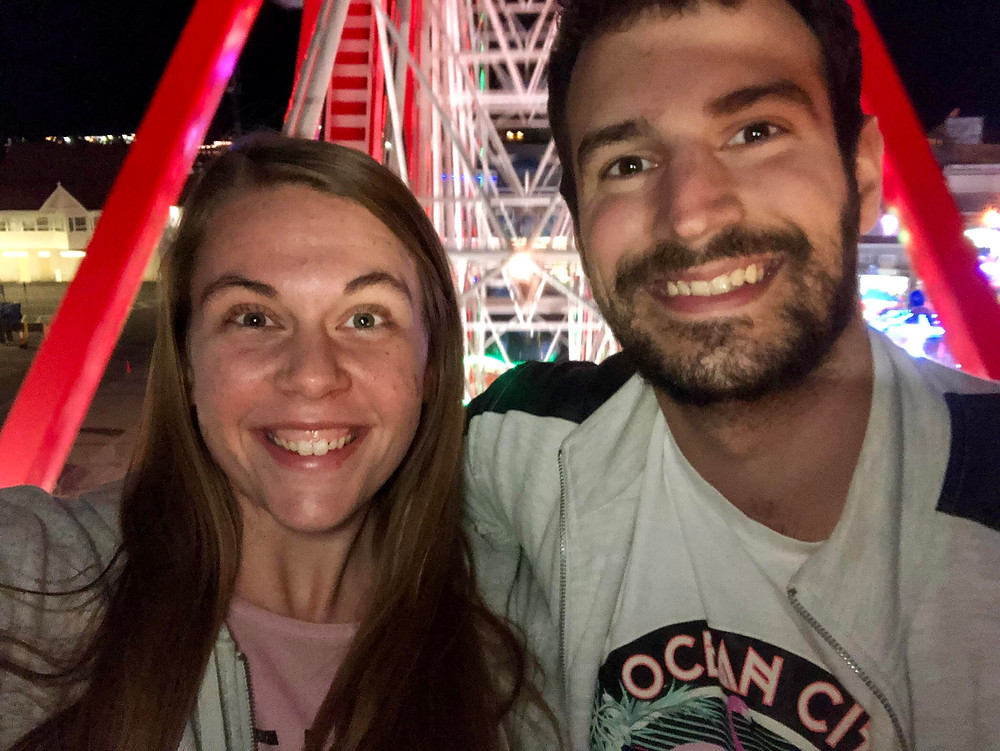 Brittany and Mark on a ferris wheel