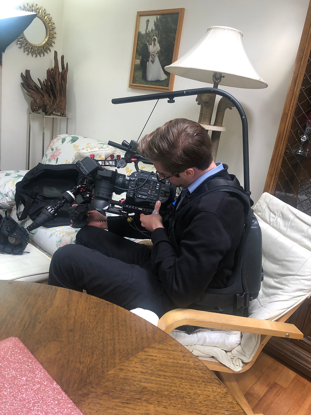 Director of Photography preparing a shot.