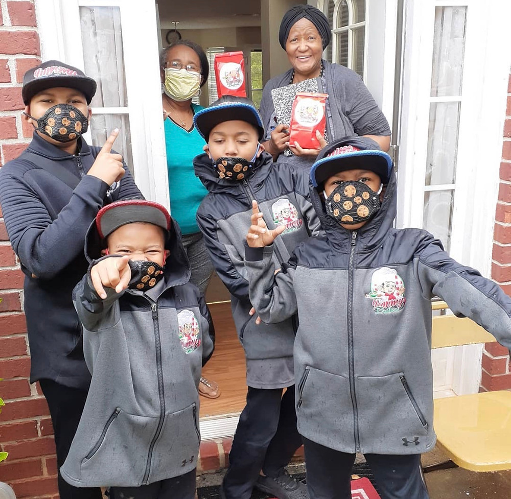 wearing masks cookie delivery gifts for holidays happy customers the bundle