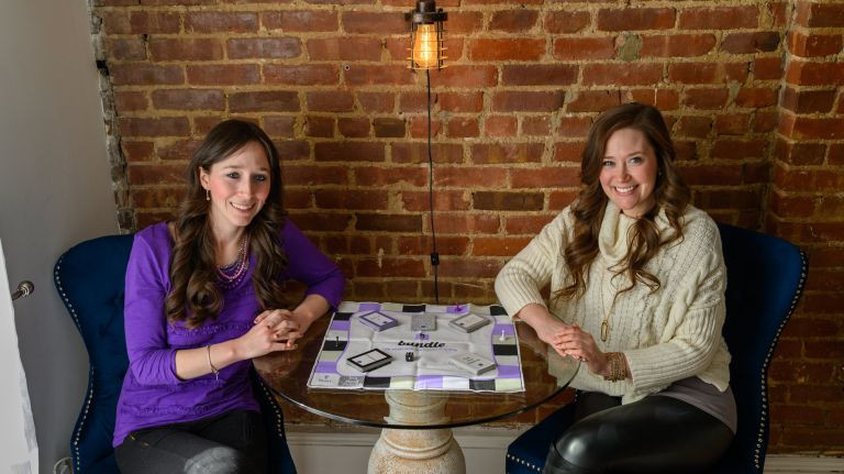 Sisters with custom board game
