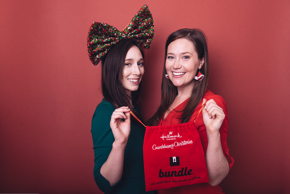 Sister entrepreneurs with the Hallmark Channel edition of Bundle.