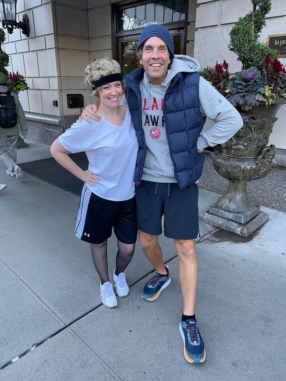 Jackie Collier posing with Jesse Itzler, ultramarathoner and entrepreneur!