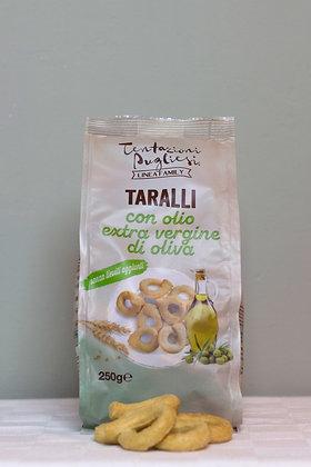 Taralli con olio extra vergine di olivia, 250 g