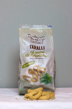 Taralli ai semi di finocchio, taralli met venkel, 250 g