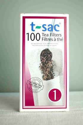 T-sac 1 cup, ongebleekt 100 stuks