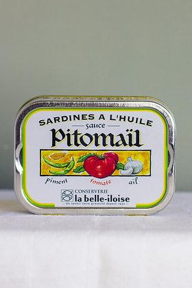 Sardines a l'huile sauce Pitomaïl 115 g