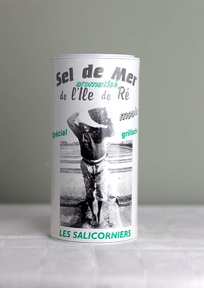Sel boîte moulu aromatisé grillade Île de Ré, 250 gr