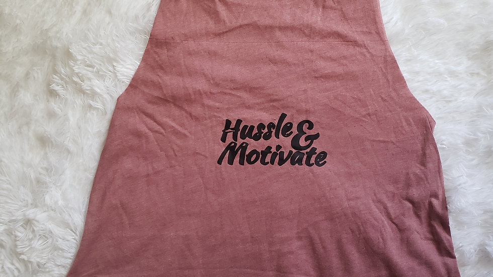 Hussle & Motivate Crop Top Muscle T