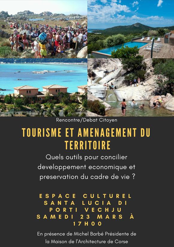 Affiche Debat Tourisme et amenagement du