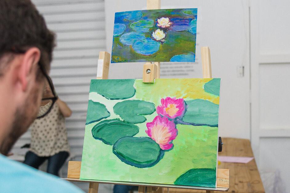 o Paint & Drink oferece um momento de relaxamento, inspiração e liberdade de expressão, mostrando que na arte não existe certo e errado