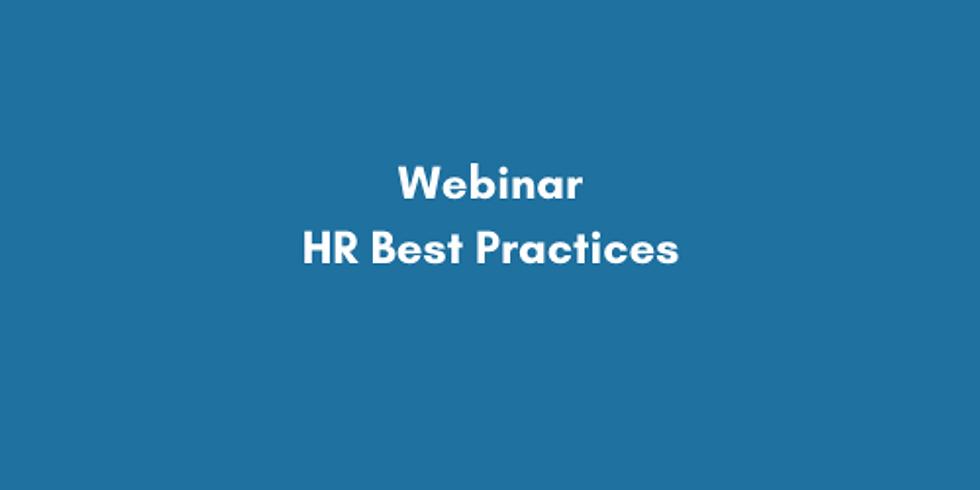 Webinar: HR Best Practices