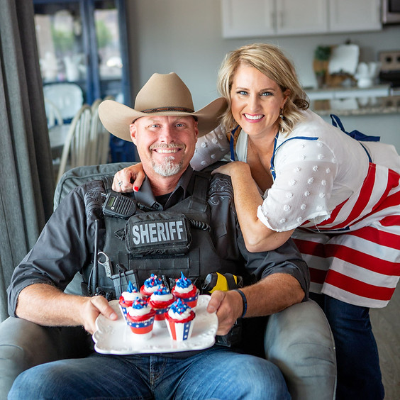 Fundraiser with Border Sherriff Mark Lamb and his Wife Janel