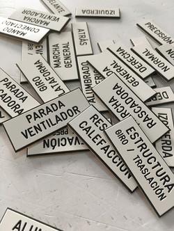 placas varias grabadas