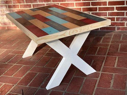 Colorful Coffee Table - Stained Pine