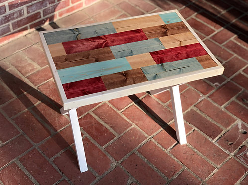 Colorful End Table - Stained Pine