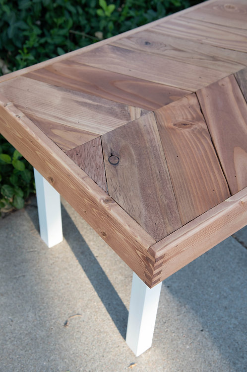 Coffee Table - Herringbone with Cherry Finish