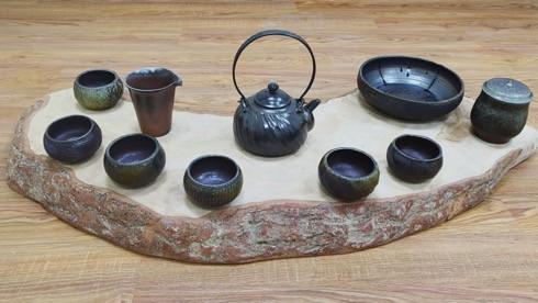 烏金波紋壺組