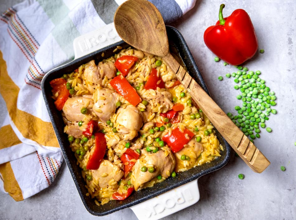Recette en un seul plat: hauts de cuisses de poulet