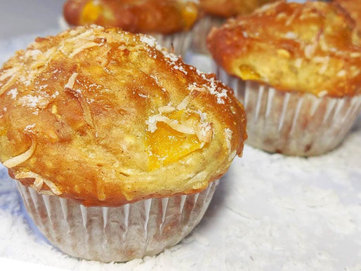 Muffins tropicaux - Mangue et noix de coco