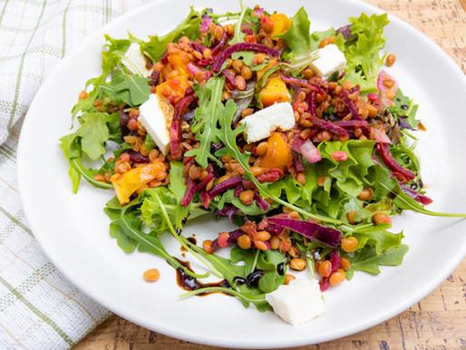 Salade de lentilles et betteraves