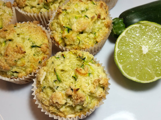 Muffins coco-lime et courgettes