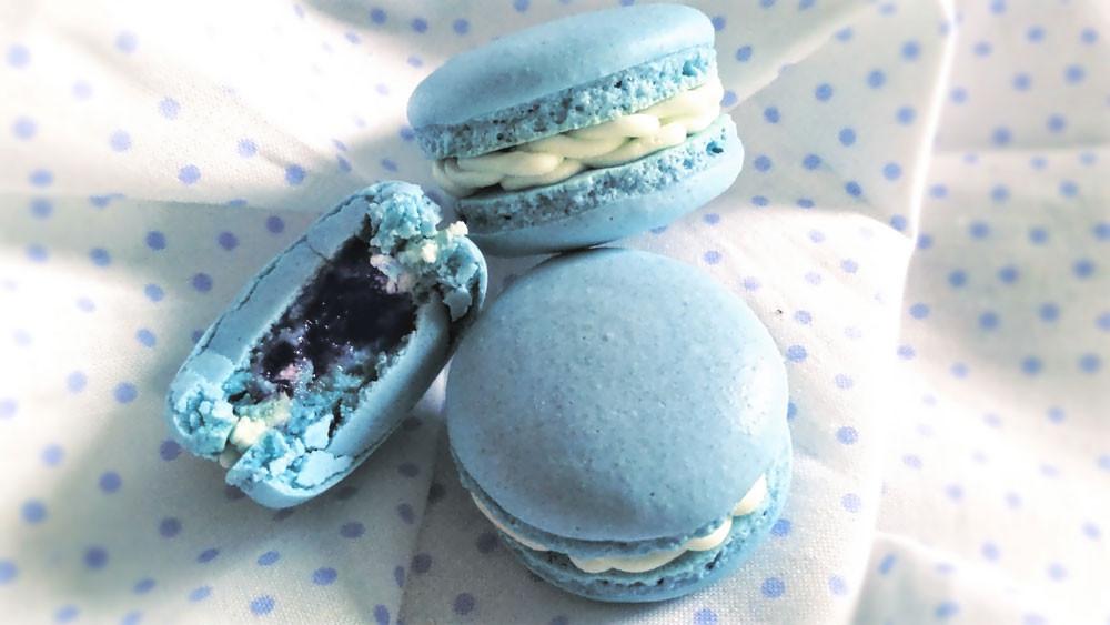 Macarons au bleuets