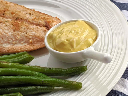 Sauce moutarde et mangue