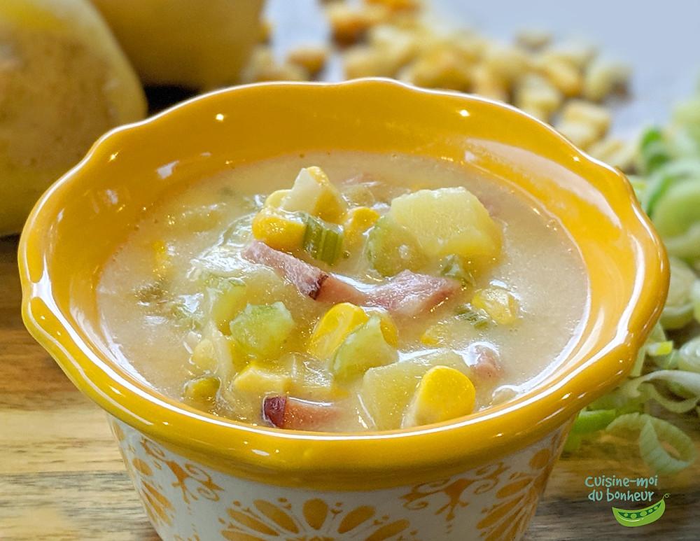 Chaudrée de maïs et pommes de terre