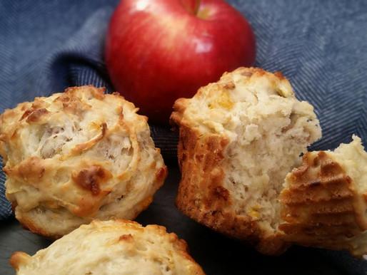 Muffins cheddar, noix et pommes