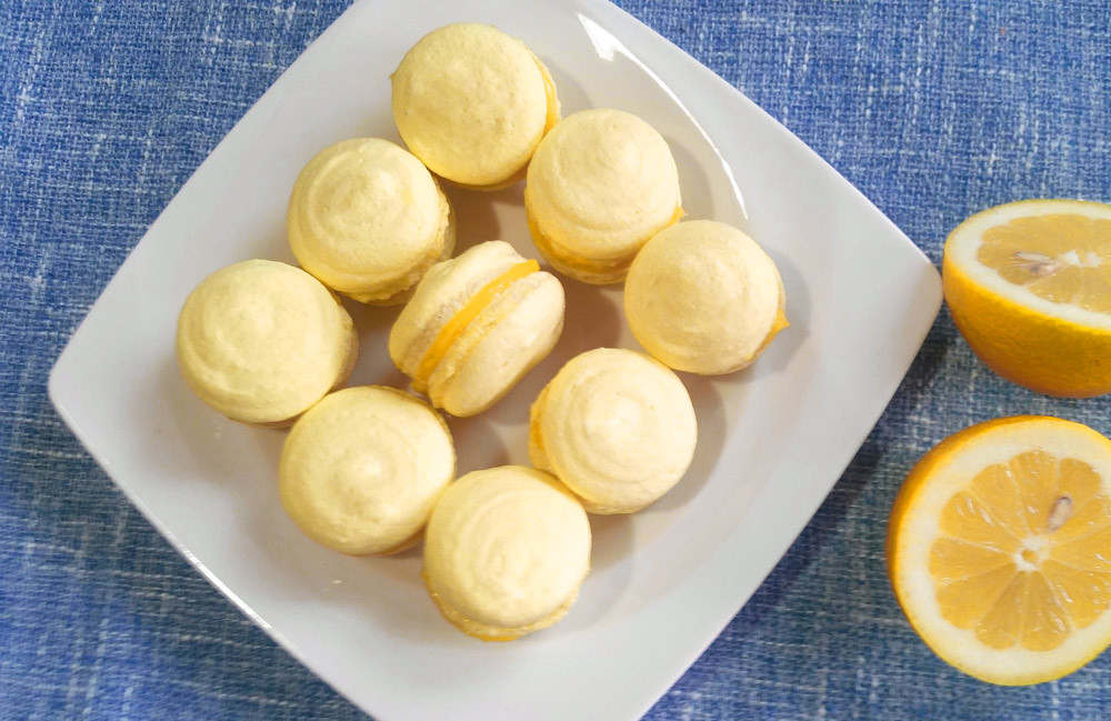 Les macarons au citron = une grande dose de bonheur :-)