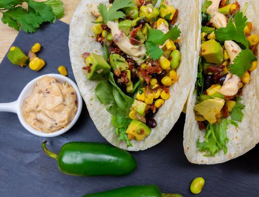 Tacos végés et mayonnaise olé olé