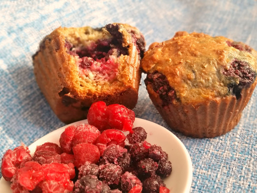 Muffins double fruits