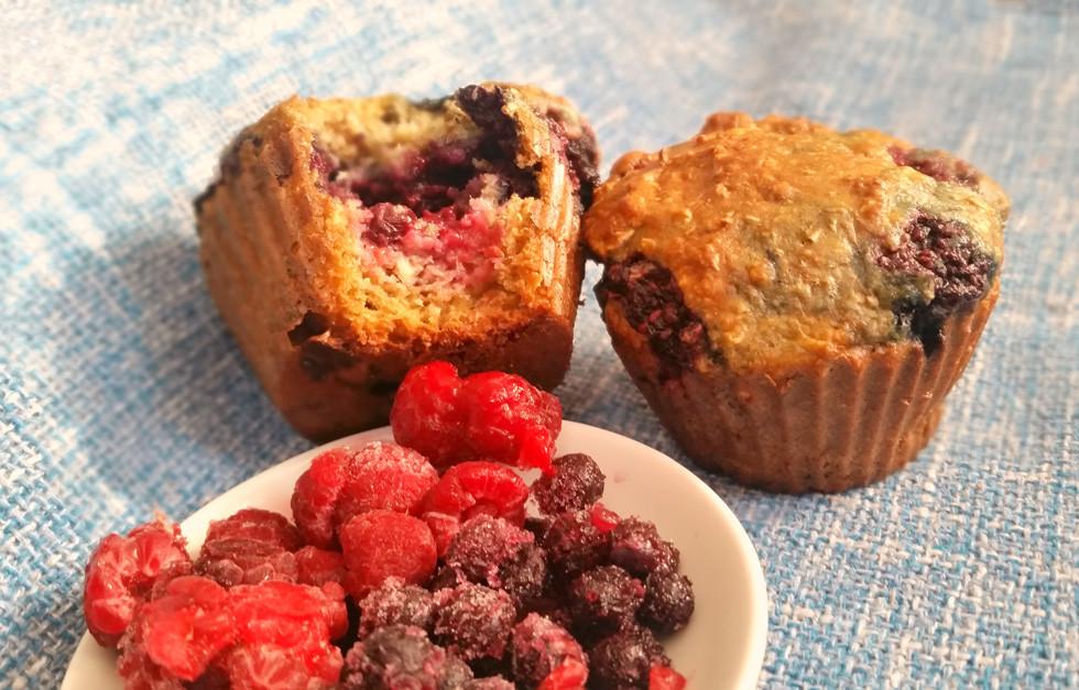 Muffins aux petits fruits des champs surgelés