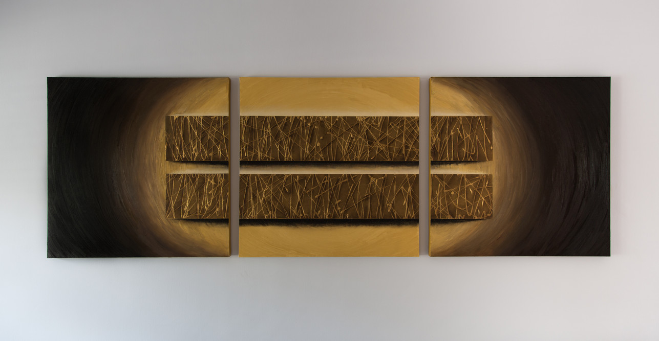 Abstract 3m x 1m