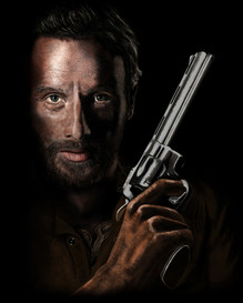 Rick Grimes from the TV hit 'The Walking Dead'