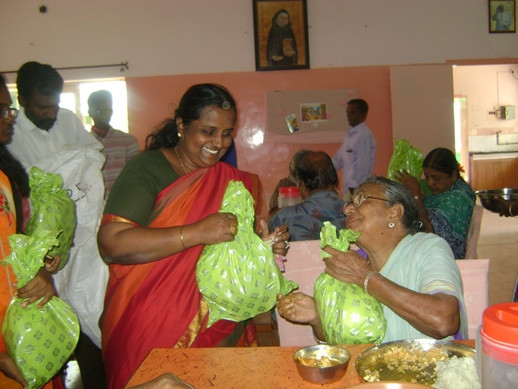 Mrs. Annapoorni's Yearly visit to our Home in Erode!
