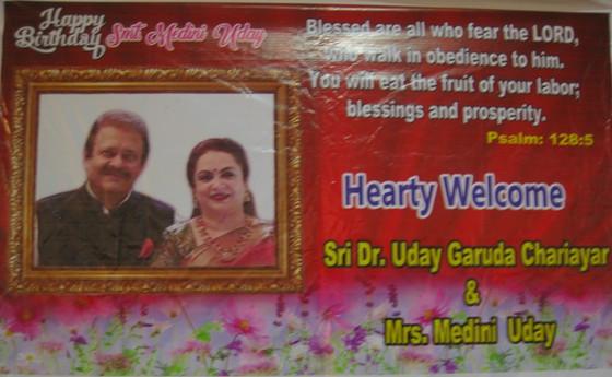 Mrs. Medini Uday Garuda Chariayar celebrates her birthday with the elderly Residents at the Little S