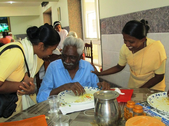 World Day of the Poor celebrated in Bangalore Perpetual Secours Home!