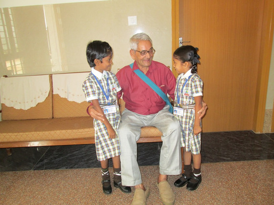 The Royale Concorde International School Children visit the aged on                         World El