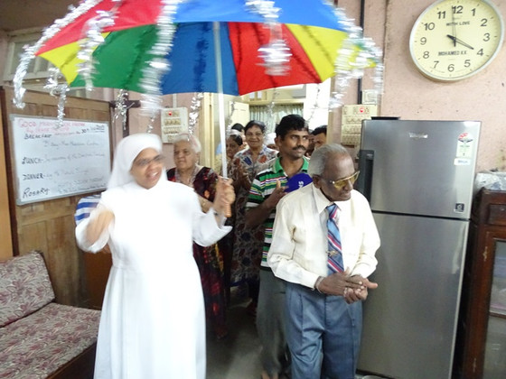 25 years of presence of Mr Peter Francis Fernandez at the Little Sisters of the Poor at Mumbai!