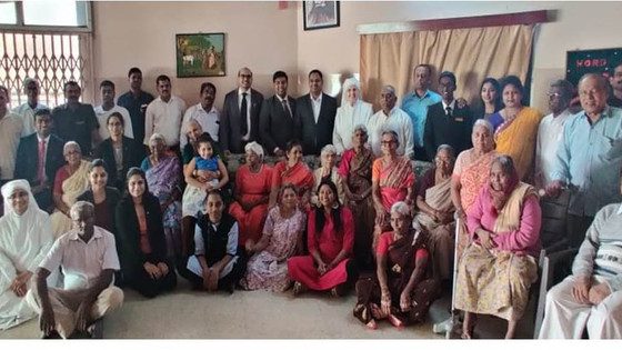 Taj Krishna  served the elderly    Residents of Little Sisters of the           Poor at Secunderabad