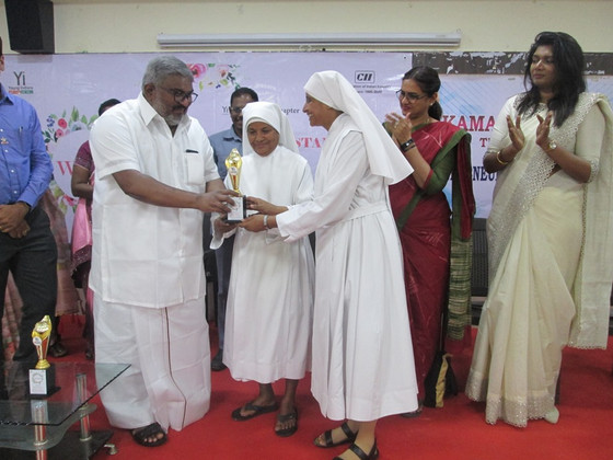 Wonderful Outstanding Women    Award to the Little Sisters of the              Poor at Tuticorin!