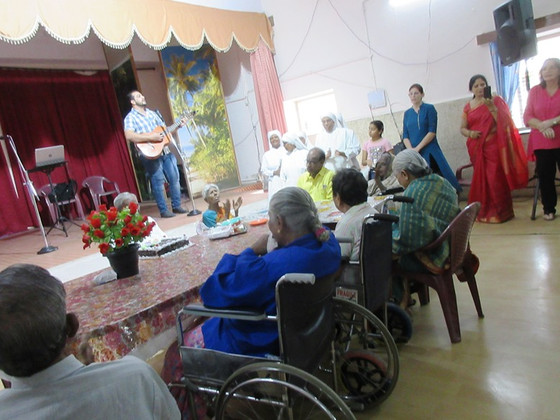 Birthday Celebrations of the Elderly        and Birthday of Mr Mark in                  Secunderabad