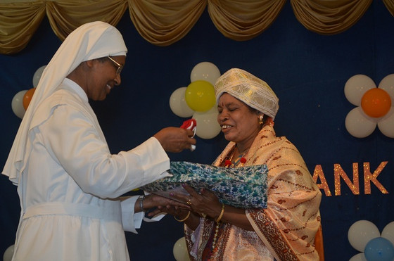 Farewell to Saroja Paul, a dedicated employee of our Home at Mysore!