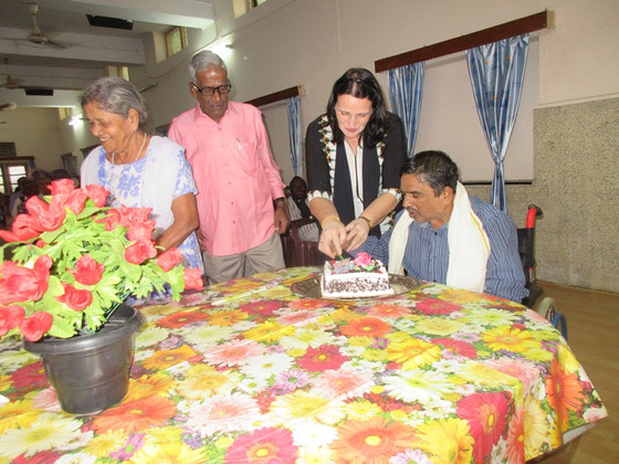 Birthday Party celebrations at the       Little Sisters of the Poor in Secunderabad - Conducted by